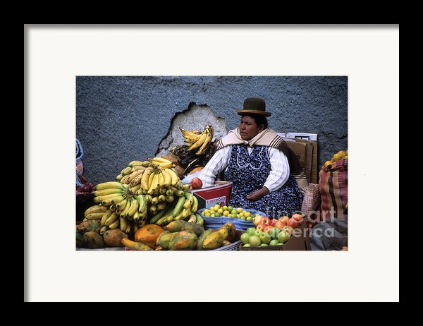 Fruit Seller Framed Print By James Brunker