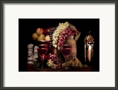 Fruity Wine Still Life Framed Print By Tom Mc Nemar