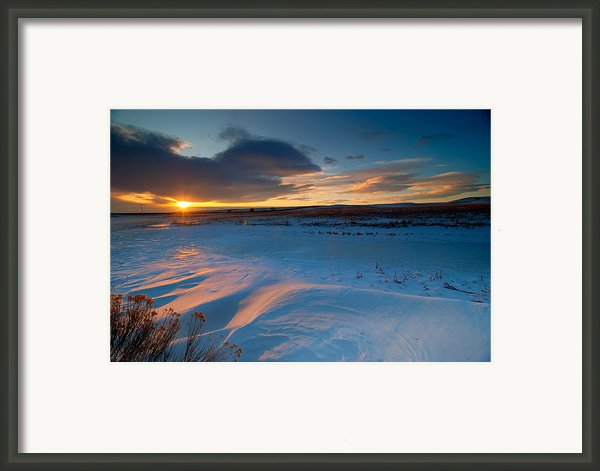 Ft Collins Snow Sparkles Framed Print By Preston Broadfoot