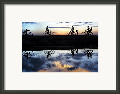 Fun Time Framed Print By Partha Pal