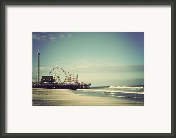 Funtown Pier Seaside Heights Vintage Framed Print By Terry Deluco