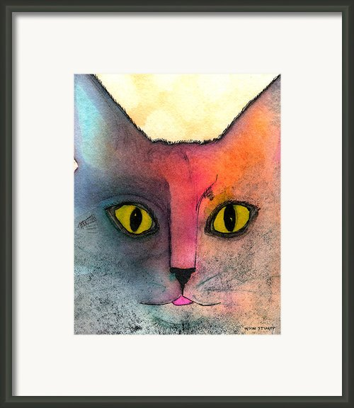 Fur Friends Series - Abby Framed Print By Moon Stumpp