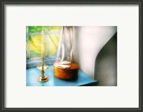 Furniture - Lamp - In The Window  Framed Print By Mike Savad