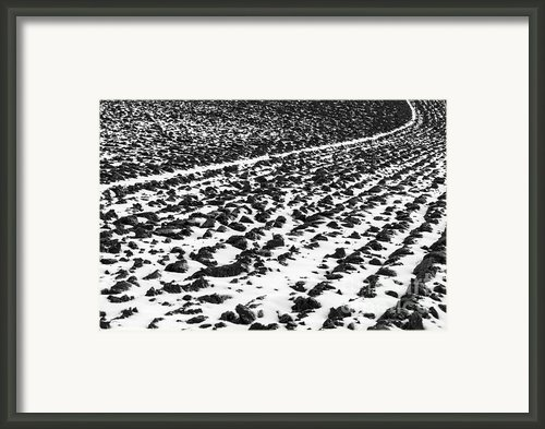 Furrowed Framed Print By John Farnan