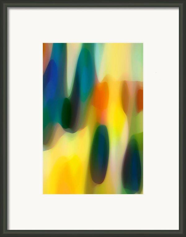 Fury Rain 4 Framed Print By Amy Vangsgard