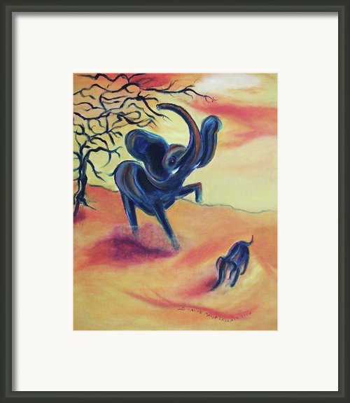 Fury Framed Print By Suzanne  Marie Leclair