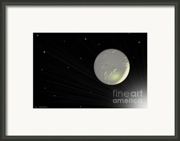 Future Earth 2 Framed Print By Cheryl Young