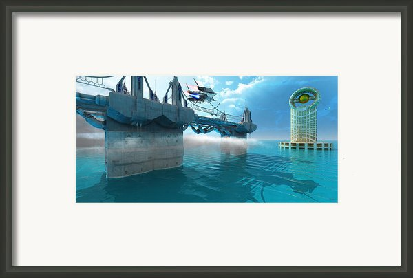 Futuristic Skyway Framed Print By Corey Ford