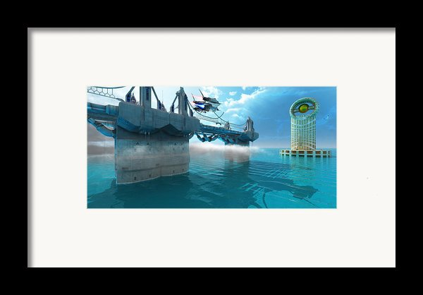 Futuristic Skyway Framed Print By Corey Ford