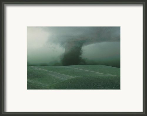 Fv2267, Claude Lavoie Tornado Sweeping Framed Print By Claude Lavoie