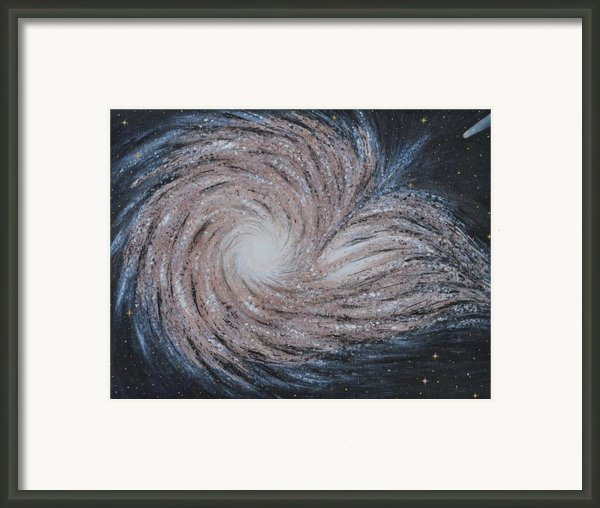 Galactic Amazing Dance Framed Print By Georgeta  Blanaru