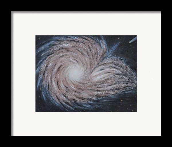 Galactic Amazing Dance Framed Print By Georgeta  Blanaru