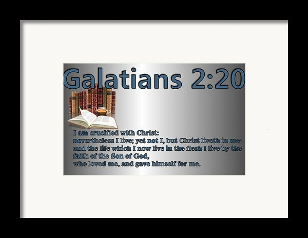 Galatians 2 20 Framed Print By Ricky Jarnagin