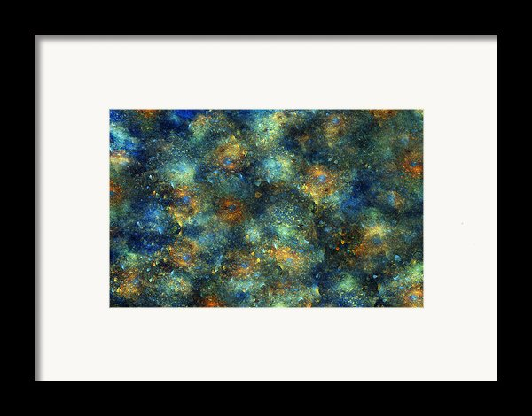 Galaxies  Framed Print By Betsy C  Knapp
