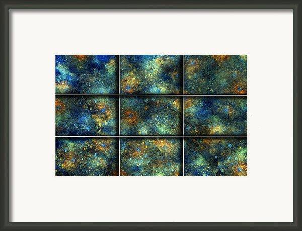 Galaxies Ii Framed Print By Betsy A  Cutler