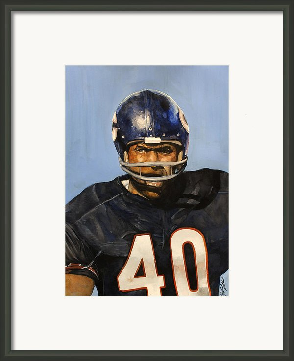 Gale Sayers Framed Print By Michael  Pattison