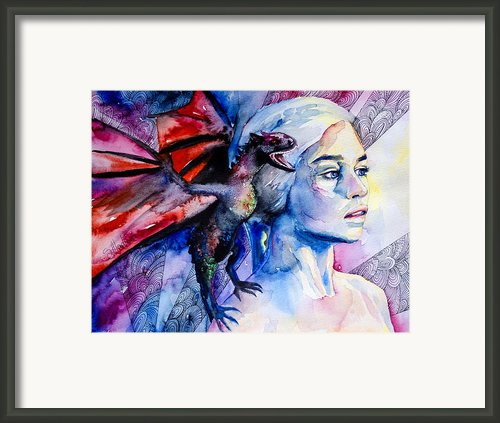 Game Of Thrones- Daenerys Targaryen Framed Print By Lyubomir Kanelov