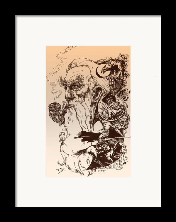 Gandalf- Tolkien Appreciation Framed Print By Derrick Higgins