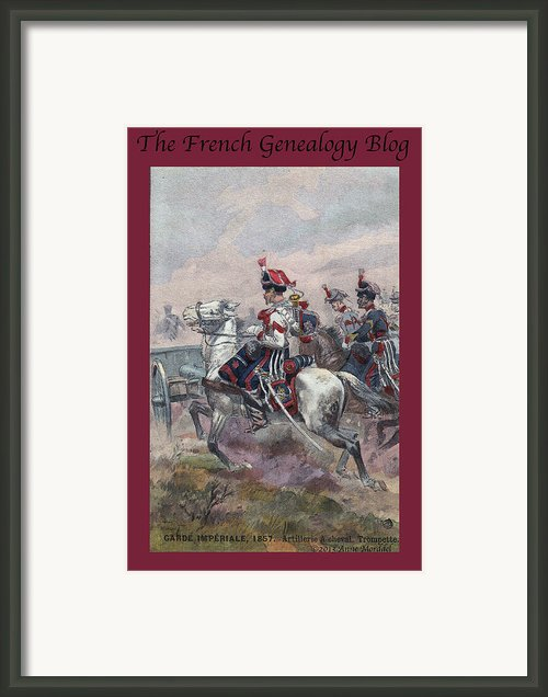 Garde Imperiale 1857 With Fgb Border Framed Print By A Morddel