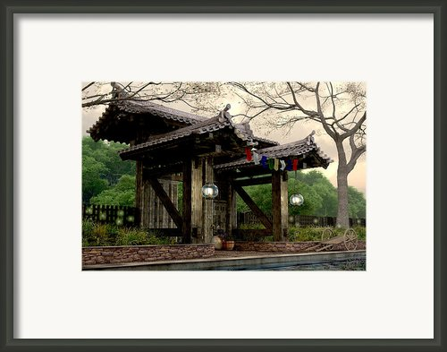 Garden Gate Framed Print By Cynthia Decker