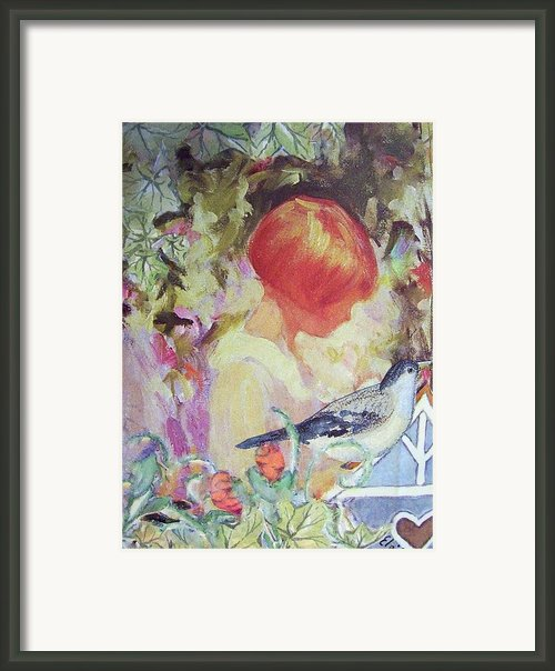 Garden Girl - Antique Collage Framed Print By Eloise Schneider