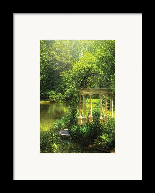 Garden - The Temple Of Love Framed Print By Mike Savad