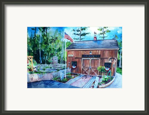 Gardening Shed Framed Print By Scott Nelson