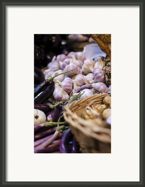 Garlic At The Market Framed Print By Heather Applegate