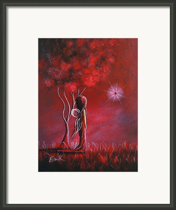 Garnet Fairy By Shawna Erback Framed Print By Shawna Erback