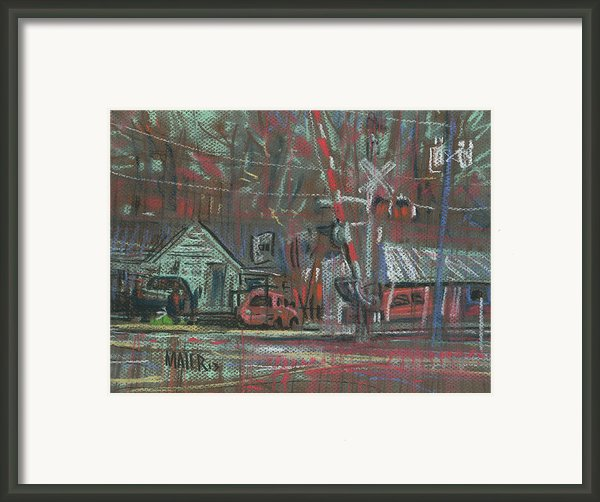 Gated Crossing Framed Print By Donald Maier