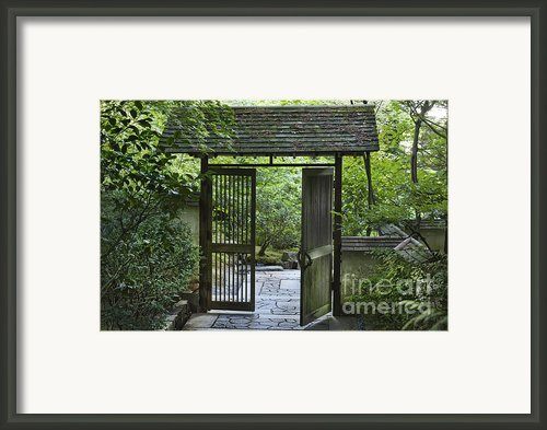 Gates Of Tranquility Framed Print By Sandra Bronstein