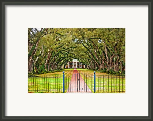 Gateway To The Old South Paint Framed Print By Steve Harrington