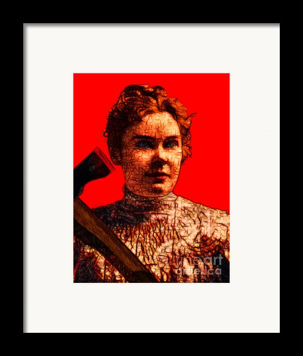 Gave Her Father Forty Whacks - Red Framed Print By Wingsdomain Art And Photography