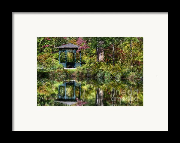 Gazebo Retreat Framed Print By John Greim
