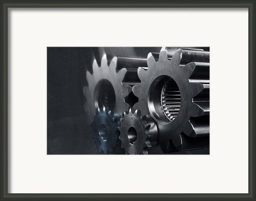 Gears And Power Framed Print By Christian Lagereek