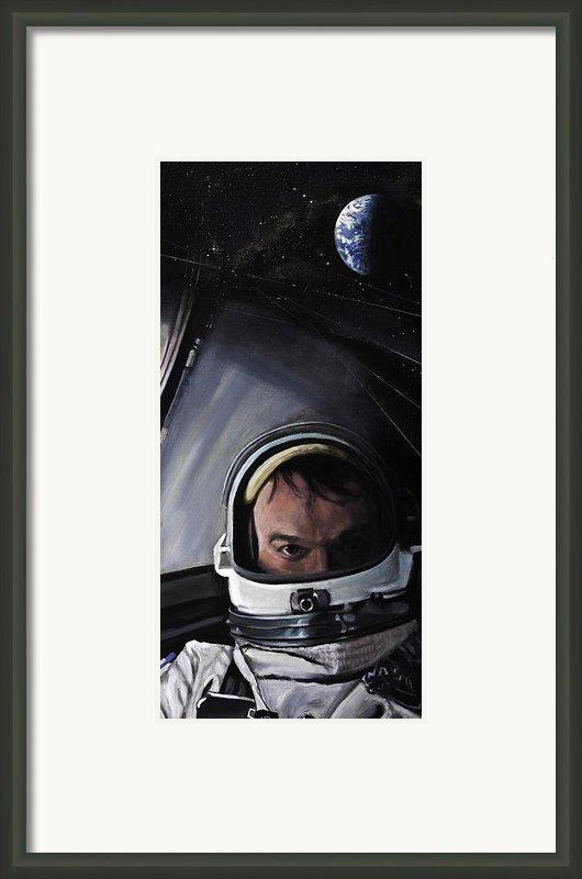 Gemini X- Michael Collins Framed Print By Simon Kregar