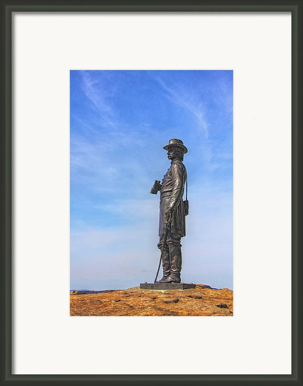 General Warren Statue At Gettysburg Framed Print By Randy Steele