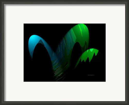 Geometric Art Designs In Blue And Green Framed Print By Mario  Perez