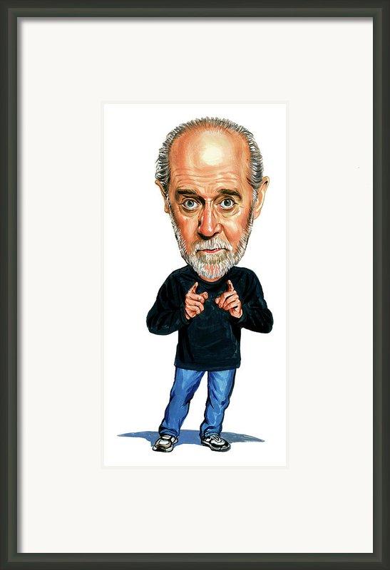 George Carlin Framed Print By Art