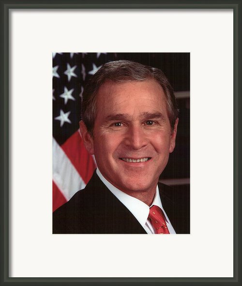 George W Bush Framed Print By Official Gov Files