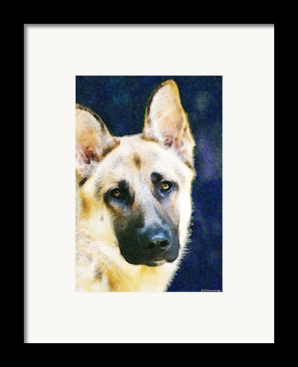 German Shepherd - Soul Framed Print By Sharon Cummings