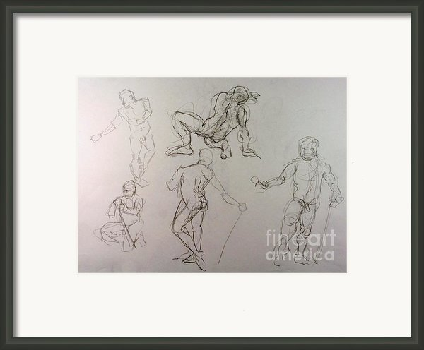 Gestures Of A Man Framed Print By Andy Gordon