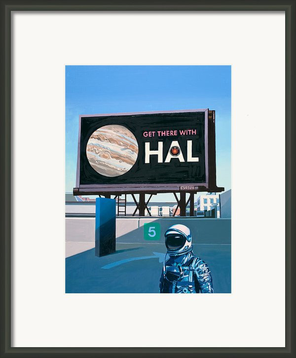 Get There With Hal Framed Print By Scott Listfield