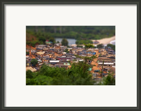 Ghanaian Village Framed Print By Samuel Whitton