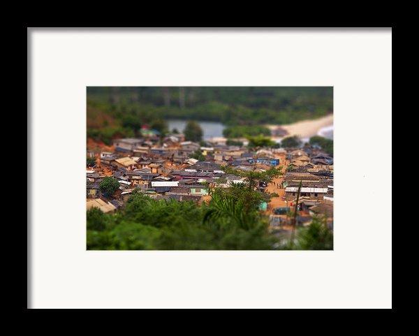 Ghanaian Village Framed Print By Samuel Whitton