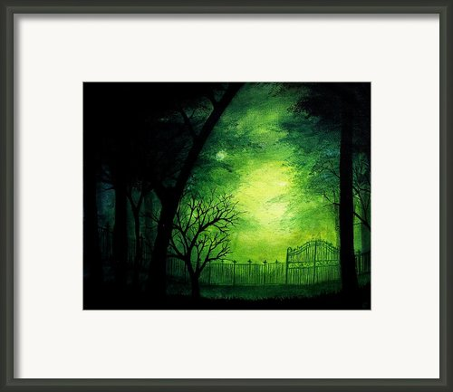 Ghastly Gate Framed Print By Erin Scott