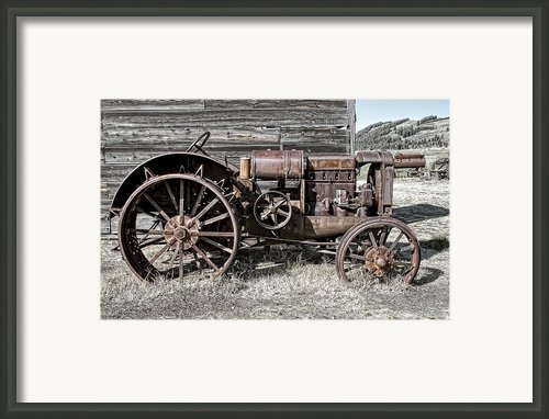 Ghost Town Farm Tractor - Molson Washington Framed Print By Daniel Hagerman