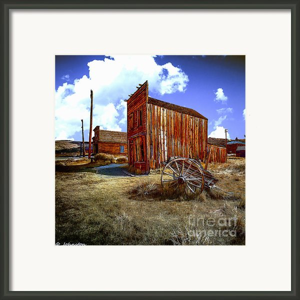 Ghost Towns In The Southwest Framed Print By Nadine And Bob Johnston