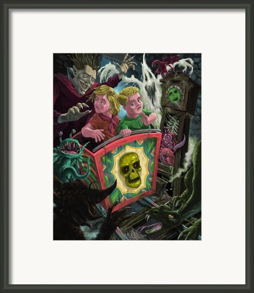 Ghost Train Fun Fair Kids Framed Print By Martin Davey