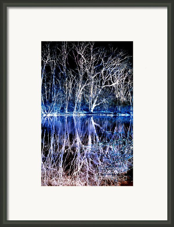 Ghostly Trees In Reflection Framed Print By Imagesasart Photos And Graphics
